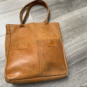 Raven and Lily camel leather bag